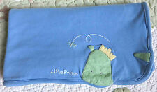 Just One Year Blue Cotton Blue w Green Little Prince Dinosaur Baby Boy Blanket
