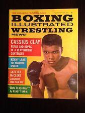 November 1962 Boxing Illustrated Wrestling News Cassius Clay MUHAMMAD ALI