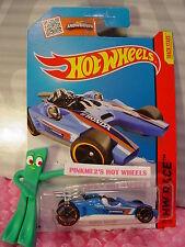 2016 Case A/Q 2015 i Hot Wheels HONDA RACER #182✰Blue/White;Orange oh5✰Track Ace