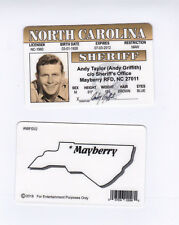 Mayberry North Carolina NC  Sheriff Taylor - Andy Griffith show Drivers License