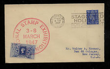 Great Britain stamp expo label on cover 1947 Kl0219