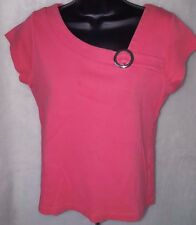 Casual Corner Annex Womens Petite Pinkish Orange Shirt Top Size M