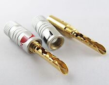 20x Nakamichi 24K Gold Plated Copper BFA 4mm Banana Plug Male Speaker Connector