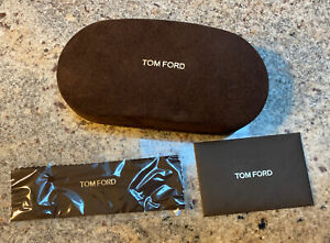 New Tom Ford sun glasses hard case/pouch Brown With Card