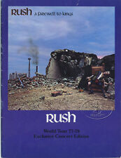 RUSH 1977-78 FAREWELL TO KINGS Tour Concert Program Programme Book
