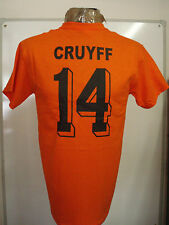 HOLLAND CRUYFF 14 RETRO 1974  FOOTBALL TEE SHIRT SIZE ADULT LARGE BRAND NEW