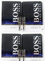 Hugo Boss Bottled Night Men Eau de Toilette EDT .06 oz  2 ml Sample Vial x 4 PCS
