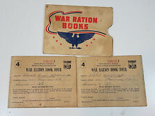 Vintage WWII War Ration Book 4 Set of Two with Stamps Envelope Denver Colorado