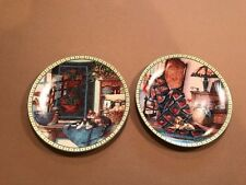 "Set of 2 Knowles Collector Plates ""Warm Retreat"" and ""Lazy Morning"""