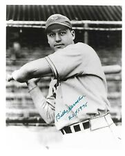 BILLY HERMAN signed autographed 8x10 photo CHICAGO CUBS HOF 1975 d 1992