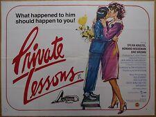PRIVATE LESSONS (1981) - original UK quad film/movie poster, Sylvia Kristel