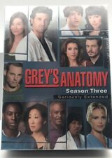Grey's Anatomy Season Three - Seriously Extended (DVD) Sealed! Brand New