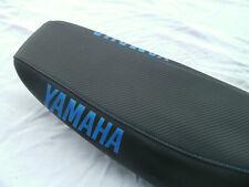 Yamaha WR 125R+WR125X Sitzbankbezug Carbon-Leder Supermoto/Enduro Blau
