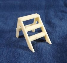 Vintage Marx Dollhouse Off White Cream Step Stool