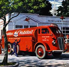 1945 Autocar Tanker, MOBILGAS, MOBILOIL, MOBIL, Refrigerator Magnet,40 MIL