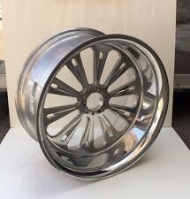 ALL AMERICAN 18x8.5 CUSTOM POLISHED BILLET REAR WHEEL NO HUB HARLEY 250 TIRE
