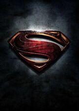 Cartel De Hombre De Acero Logotipo de Superman A5, A4, A3 A2 A1