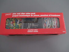 Office Supplies Assorted Paper Clip Push Pin Binder Clips 430 Value Pack Staples
