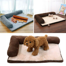 XL XXL Dog Cat Pad Mat Memory Foam Lined Sofa Crate Cushion Travel Bed Washable