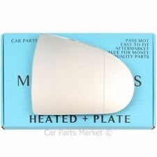 Right side Wide Angle Wing mirror glass for Mitsubishi Colt 04-12 Heated + plate