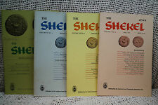lot 4 old is THE SHEKEL American Israel Numismatic Jewish coin collecting tokens
