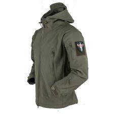 Men Soft Shell Fleece Jacket Warm Sharkskin Coat Windproof Waterproof Hiking