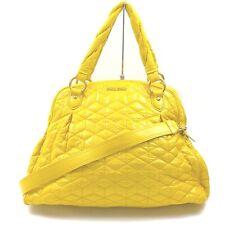 Miu Miu Tote Bag  Yellows Vinyl coated leather 1516592
