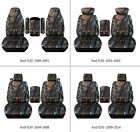Fits Ford F150 99-14 Car Seat Covers Camo Gray Tree Fr Bucket Seatslid Cover