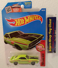 '71 Dodge Challenger Hot Wheels 2016 Kmart Color Excl. Green 104/250 B37