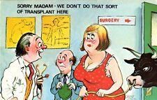 "CARDTOON Series B Comic postcard # C33 ""We don't do that sort of transplant"""