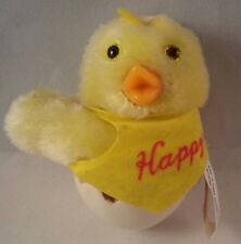 Vintage Happy Easter Yellow Chick Egg Clip-on Hugger Huggy Toy Korea McCrory 80s