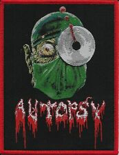 AUTOPSY-SEVERED HEAD-WOVEN PATCH-RED BORDERS