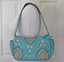 Vera Bradley Maggie Totally Turq Handbag Puse Retired Pattern