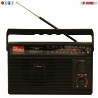 5Core ORIGINAL FM TRANSISTOR RADIO AM/FM 3 Band PORTABLE Vintage POWERED TC-22
