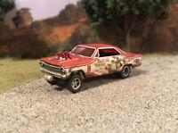 1967 Chevy Nova Rusty Weathered Custom 1/64 Diecast Barn Find Gasser Drag Car