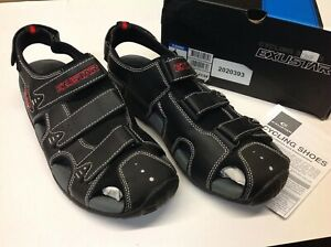 Exustar E-SS503 Sandal Cycling Shoes; Euro size 43-44; Black