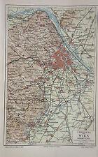 Stadtplan Umgebung von Wien - Von 1895    (J-BE2)
