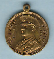 Australia. 1920 Prince of Wales Medallion.. Shire of Colac..  gilt, 27mm.. UNC