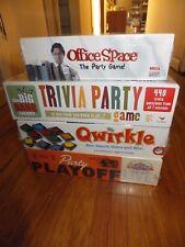 Lof of 4 Brand New Board games Qwirkle, Cranium Party Playoff, Big Bang Trivia