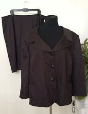 NWT Tahari Women's Brown Polyester Blend 2 Piece Skirt Suit Size 24W MSRP $320
