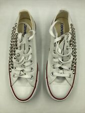 Vintage All-Star Converse Shoes Women's size 8.5 w/ Studs Embellishments