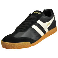 Gola Classics Harrier Nylon Men's Casual Vintage Retro Trainers Sneakers Black