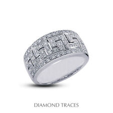 Certified Diamonds 950 Plat. Right Hand Ring 3/4 Carat E Vs2 Round Cut Natural