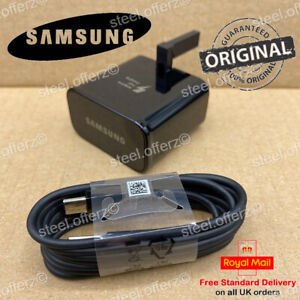Genuine Fast Mains UK Charger & Type-C Cable For Samsung Galaxy S8+ S9+ S10 Plus