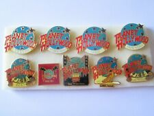 w1 lotto 9 spille PLANET HOLLYWOOD badge broches spilla perno lot pins