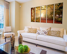 Canvas Prints FRAMED - Forest Decor - Prints On Canvas - Leaves Wall Art
