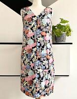 NEXT Dress Size 8  FLORAL | SMART Occasion WEDDING Pockets Linen Blend Holiday
