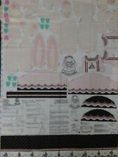 1990 Daisy Kingdom VERONICA LOUISE BUNNY Fabric Panel EASTER RABBIT DOLL w/Dress