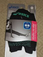 ASICS~SMALL (6-7.5)~ZK2424~Black/Green Studio No Slip Single Tab Toeless Socks