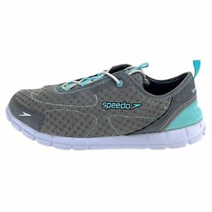 Speedo Womens Prismatic 10745 Gray Mint Sneaker Shoes Lace Up Low Top Size 10